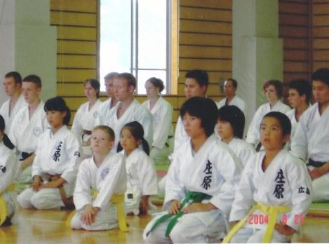 2004 - Tim Shaw & George Krethlow Shaw of Shikukai Chelmsford in Hiroshima.