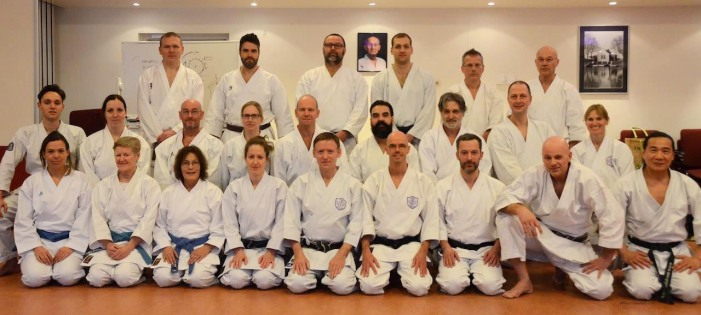 Group photo, Tim Shaw teaching in Holland.