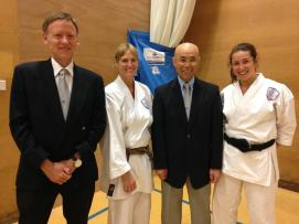 Successful students with Sugasawa Sensei on the Spring Course in Portland.