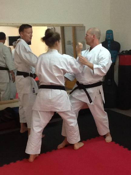 Tim Shaw teaching in France.