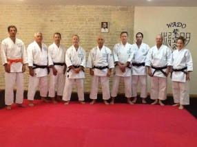 Tim Shaw assisting Sugasawa Sensei in Payroux, France.