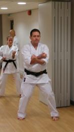 Steve Thain Sensei, kata training.