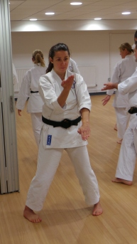 Natalie Hodgson during kata