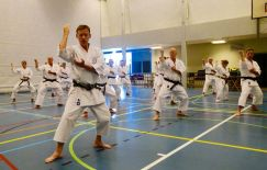 Tim Shaw helping Sugasawa Sensei in Holland.