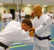 Sugasawa Sensei locking Tim Shaw