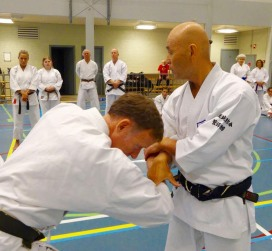 Sugasawa Sensei locking Tim Shaw