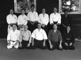 Members of Shikukai Chelmsford training with the Reading SYRJ study group.