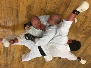 Sparring went a little crazy - but everyone was happy.