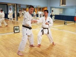 Tim Shaw teaching at the Chelmsford Dojo.