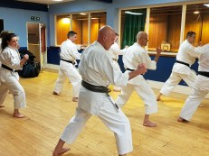 Dutch senior students training at the Chelmsford Dojo.