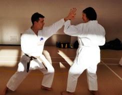 Practice of kumite, Shikukai Winter Course.
