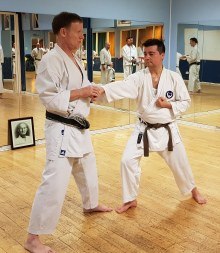 Tim Shaw & Joe Garcia at the Chelmsford Dojo.