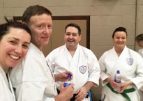 Shikukai Chelmsford senior students at the Winter Course.