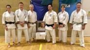 Tim Shaw, Sue Dodd & Natalie Hodgson with Wado Ryu 3rd Grandmaster, Hironori Ohtsuka III.