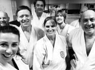 Students and instructors at the Chelmsford Dojo.