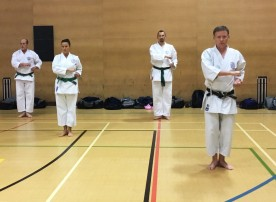Tim Shaw teaching kata on the Shikukai Spring Course.