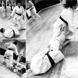 Take-down practice