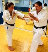 Variation on kihon gumite No.9. Natalie & Steve