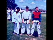 1985 UKKW Summer Course, Bracklesham Bay. Keith Henry, Keith Walker & Tim Shaw.