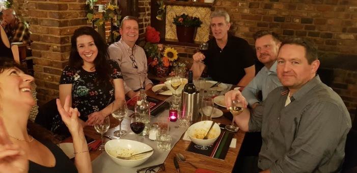 Winter Course. Evening event. Carol, Natalie, Bob, Tim.D, Pàl, Steve