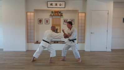 Tim Shaw & Martijn Schelen in the Kenkokai Dojo Holland