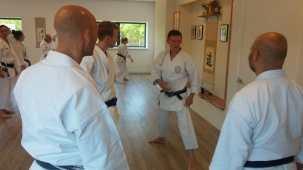 Tim Shaw Sensei teaching in Holland.