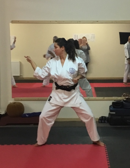Natalie Hodgson training with Sugasawa Sensei in France.