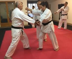 France. Natalie Hodgson training with Sugasawa Sensei in France.