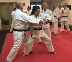 France.Natalie Hodgson training with Sugasawa Sensei in France.