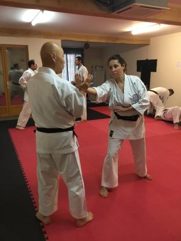 Sugasawa Sensei & Natalie Hodgson in France.