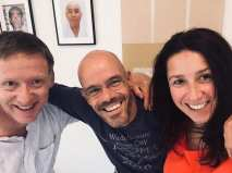 Tim Shaw, Martijn Schelen & Natalie Hodgson at the end of the September course in Holland.