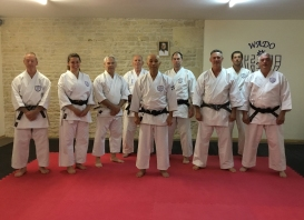 Natalie Hodgson of Shikukai Chelmsford on the June course in France with Sugasawa Sensei.