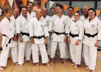Chelmsford (Shouwa Jyuku) members with Sugasawa Sensei on the Autumn course.